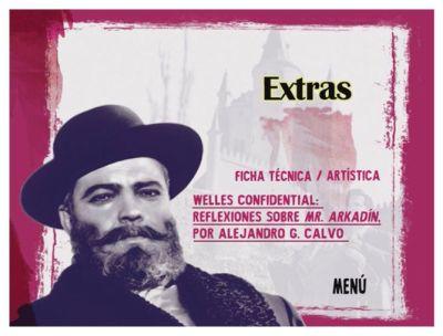 Pantalla de extras del DVD Mr. Arkadin