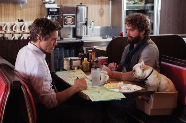 "Robert Downey Jr. y Zach Galifianakis en ""Salidos de Cuentas"""