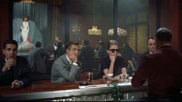 """George Peppard y Audrey Hepburn en """"Desayuno con Diamantes"""" (1961)"""