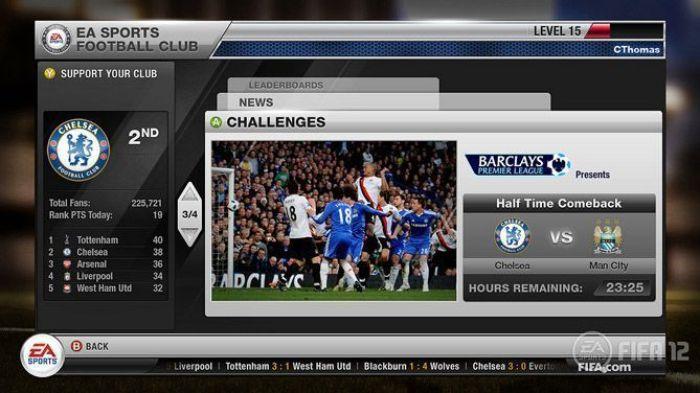"""""""FIFA 12"""" para Xbox360 (2011)"""