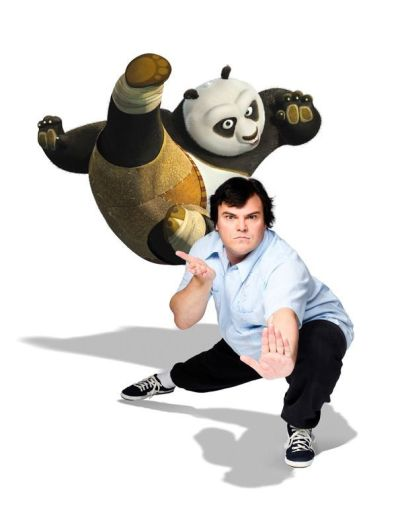 """Po"" y su actor de voz original ""Jack Black"""