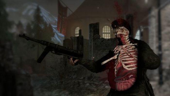 """X-Ray Kill Cam (Cámara rayos X) en el videojuego """"Sniper Elite V2"""" (2012)"""