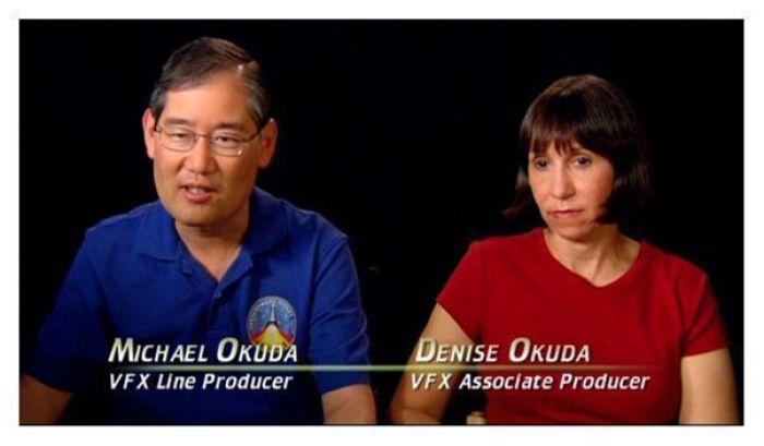 Michael y Denise Okuda: productores de varias series de Star Trek