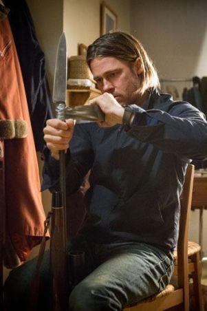 """Brad Pitt en """"Guerra Mundial Z"""" (2013) . AudioVideoHD.com"""