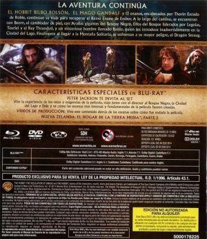 El Hobbit: la desolación de Smaug. Contraportada interior del Blu Ray