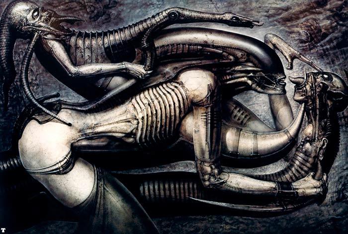 Ilustración del Necronomicón de Giger