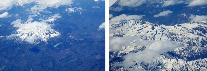 Foto tomada a 11.000 metros, primera sin zoom y la segunda con zoom. Foto tomada por Xavier Sastre Silvestre con Panasonic TZ60