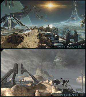 comparativa Halo clásico con Halo remasterizado. HALO: THE MASTER CHIEF COLLECTION