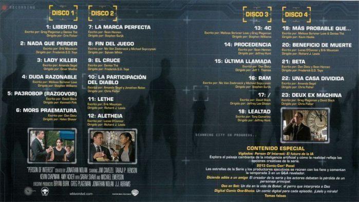 Person of Interest. Temporada 3 en Blu-Ray - AudioVideoHD.com