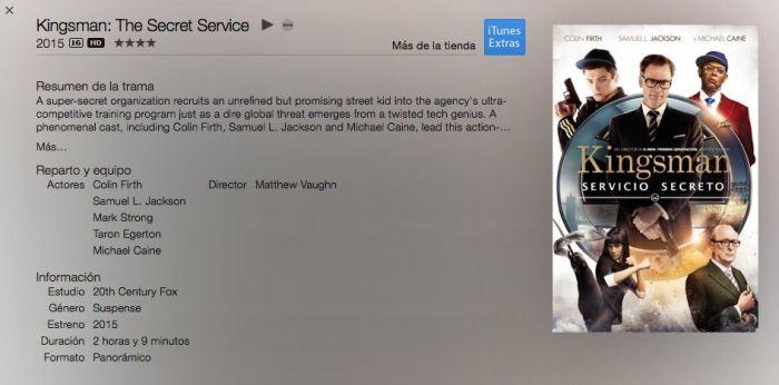 "info ""Kingsman: Servicio Secreto"" (2015) AudioVideoHD.com"