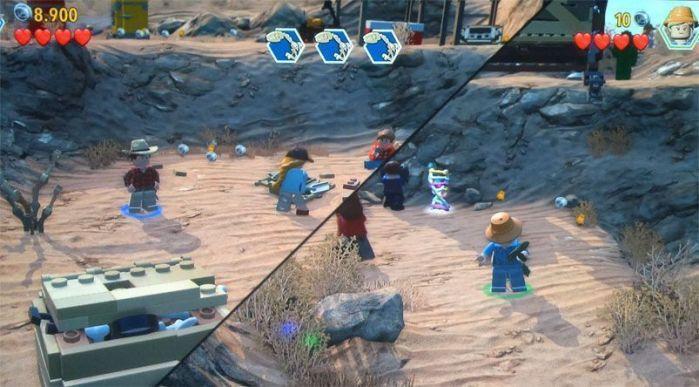 """Pantalla partida para dos jugadores """"Lego: Jurassic World"""" (reseña AudioVideoHD.com)"""