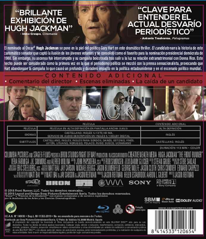 El Candidato (2018) Blu-Ray analizado en AudioVideoHD.com