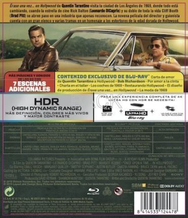 ÉRASE UNA VEZ…EN HOLLYWOOD: Edición 4K + Blu-Ray