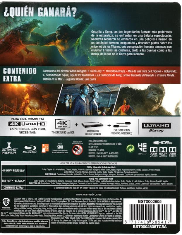 Godzilla vs. Kong (2021) Edición Steelbook UHD