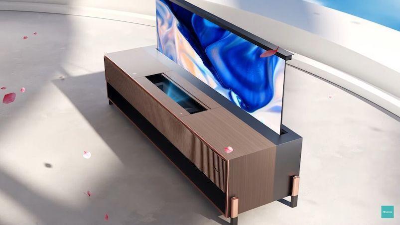 Televisor láser enrollable de HISENSE