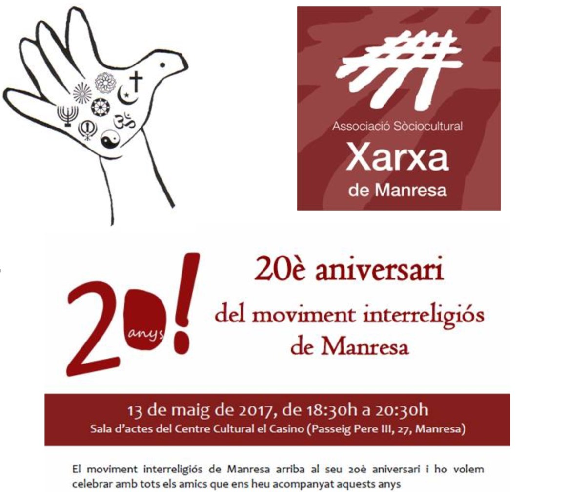 20è aniversari del moviment interreligiós de Manresa