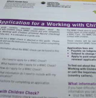 Working with Children Checks - Office of the Auditor General