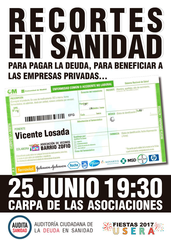 Charla De Audita Sanidad En Las Fiestas De Usera – 25/06/2017