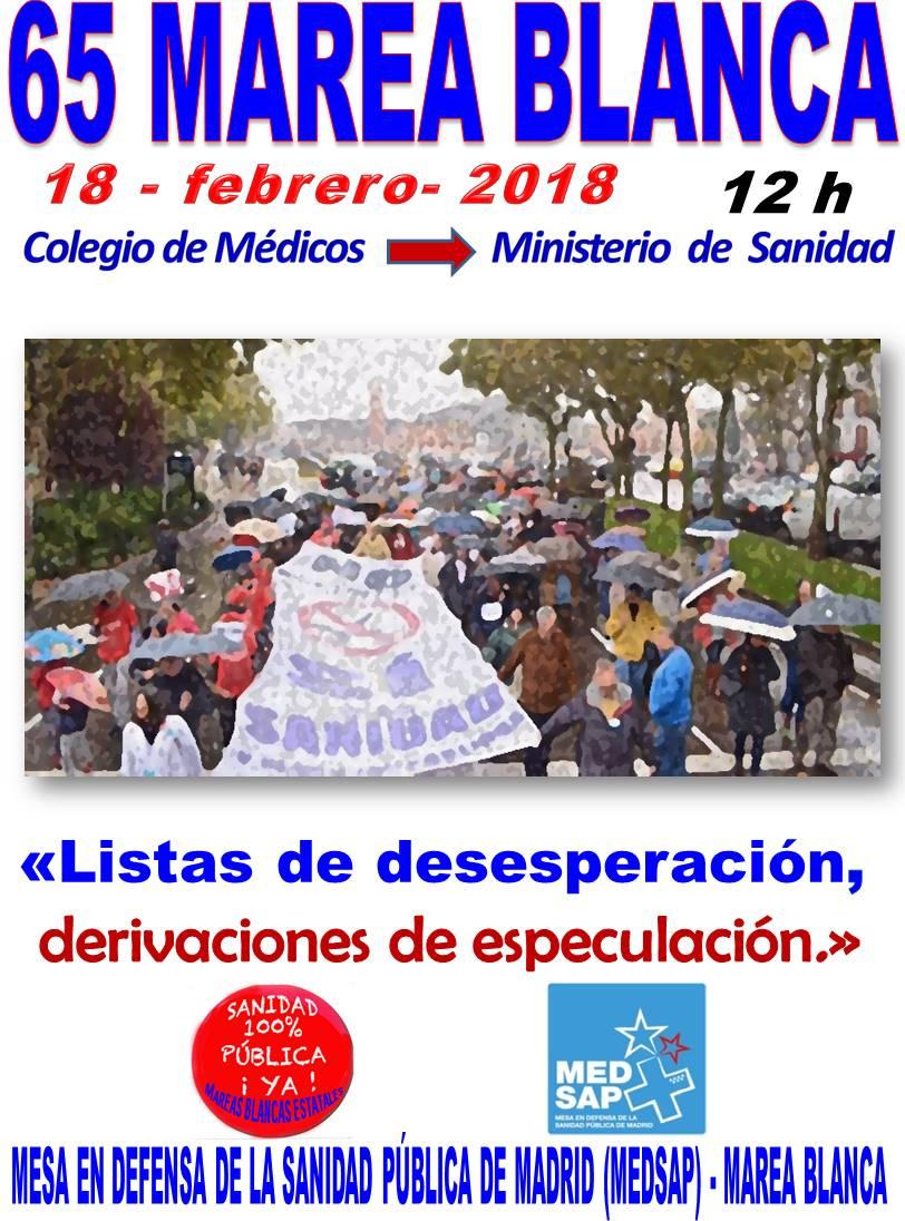 65ª Marea Blanca – 18/02/2018