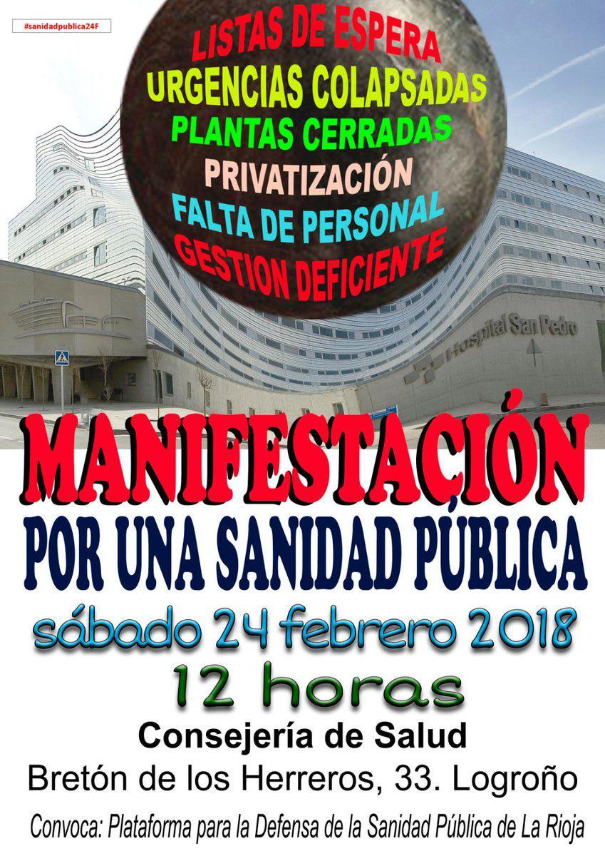 Manifestación En Defensa De La Sanidad Pública – Logroño 24/02/2018