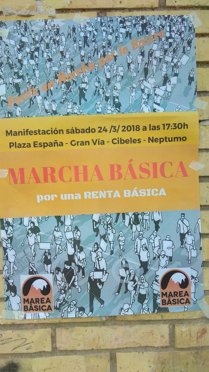 Marcha Básica Por Una Renta Básica – 24/03/2018