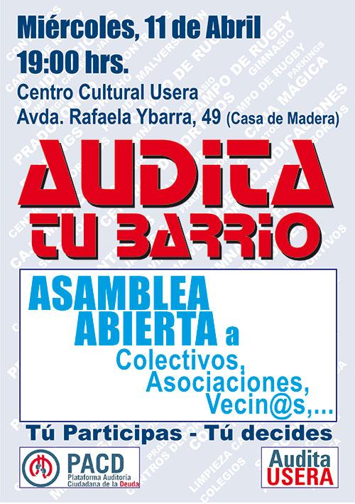 Cartel_Acto temas a Auditar_Centro Cultural Usera_2018-04-11