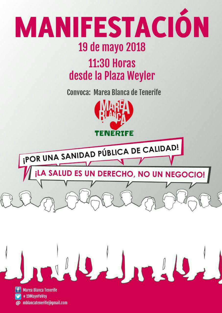 Manifestación Marea Blanca Tenerife – 19/05/2018