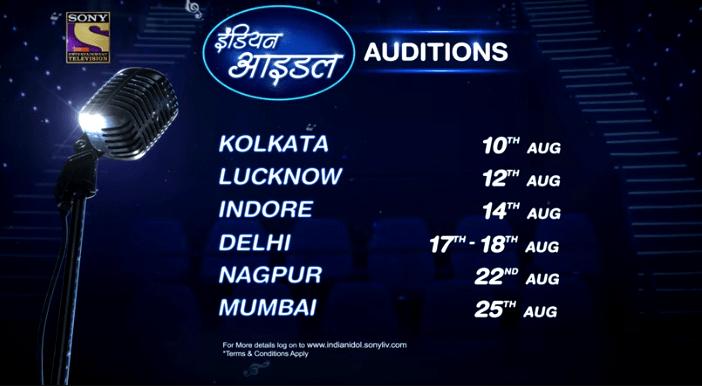 Indian Idol 2019 Season 11 Audition Dates