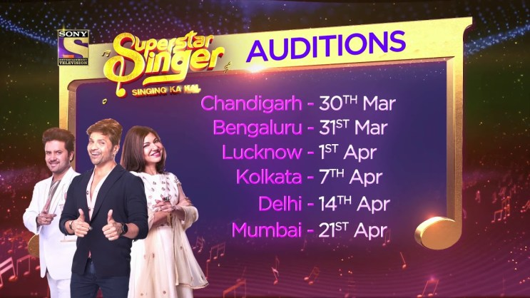 Superstar Singers 2019 auditions