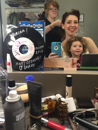 Miriam Silverman, actor, and Stella age 3, The Goodman Theater.