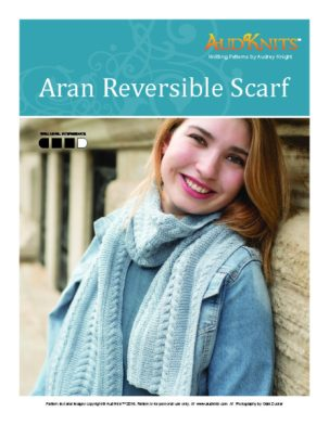 Aran reversible scarf