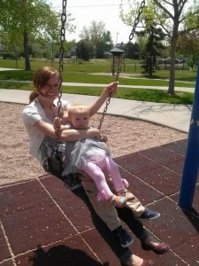 What happens when everyone wants to swing at the park.
