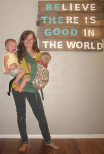 The Ergo makes me feel like Super Mom. (And no the baby isn't mine.)