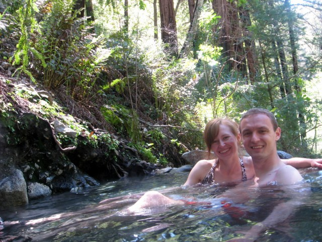 2013 - Checking out natural hot springs on our trip to Monterey, CA.