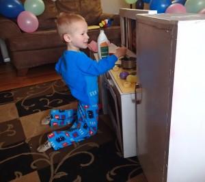 "Cooper kindly ""making me eggs for breakfast."""