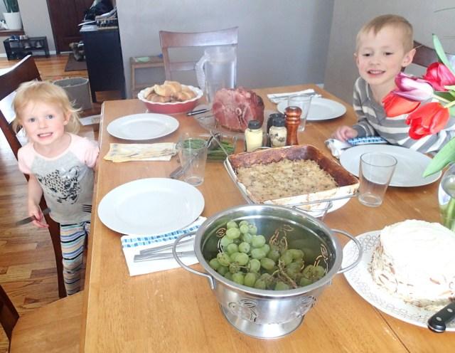 Our Easter dinner.