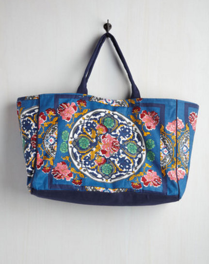 Wanna Wanna Wednesday: Travel Far and Wise Weekend Bag in Ocean by ModCloth