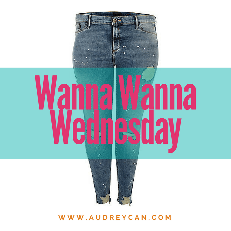 Wanna Wanna Wednesday: Blue Paint Splatter Molly Jeggings from River Island