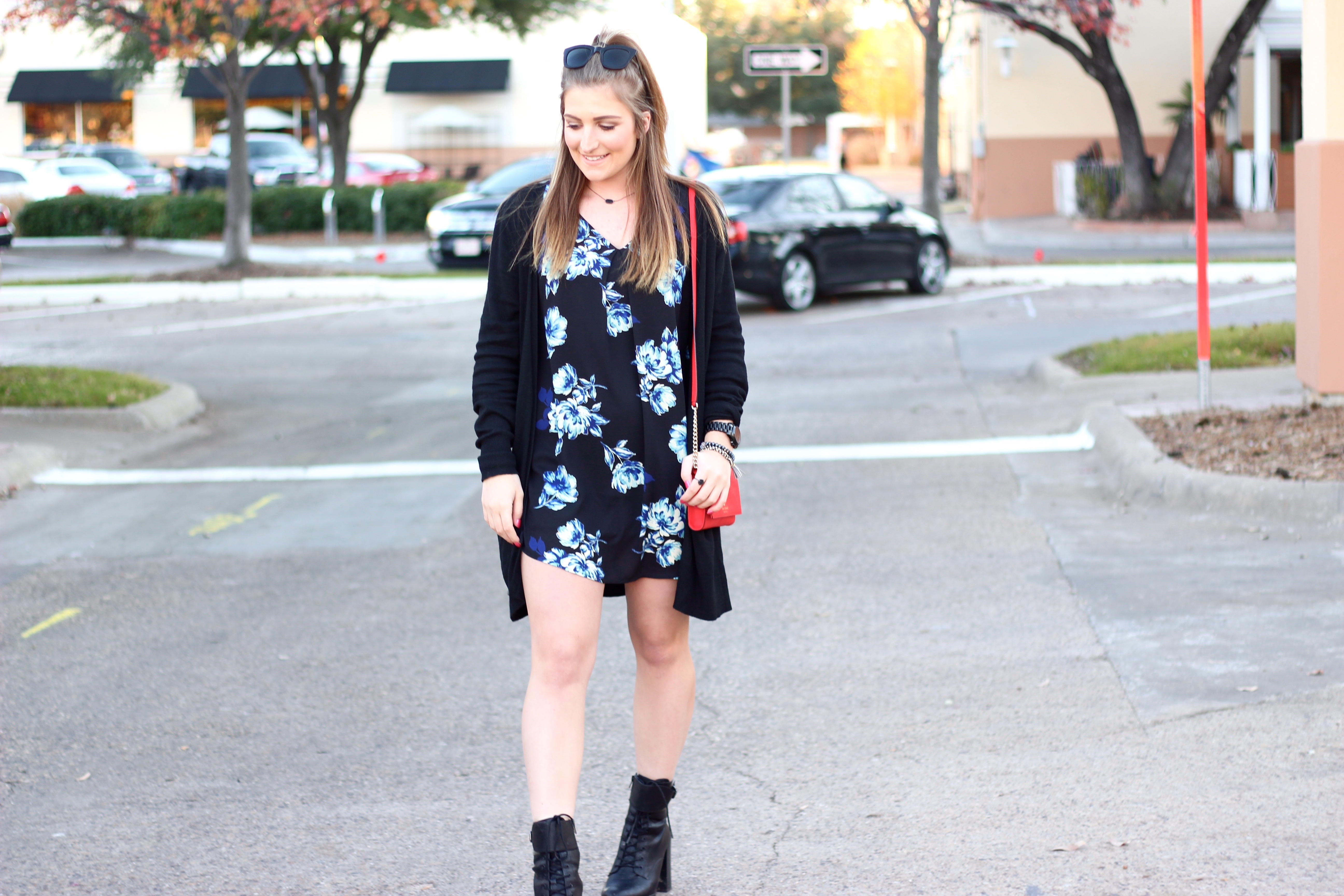 walking girl in dallas with an edgy look