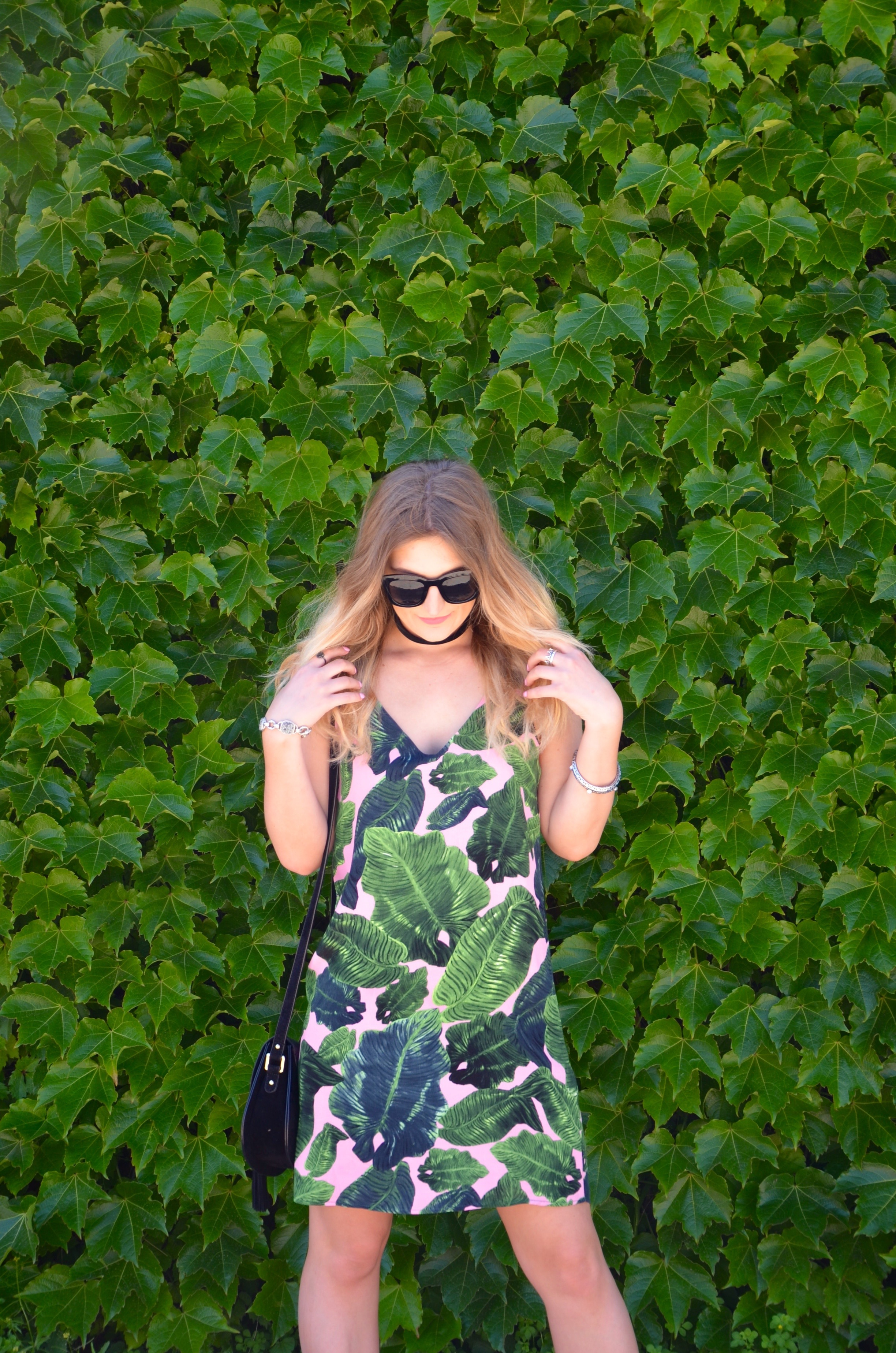 topshop leaf dress