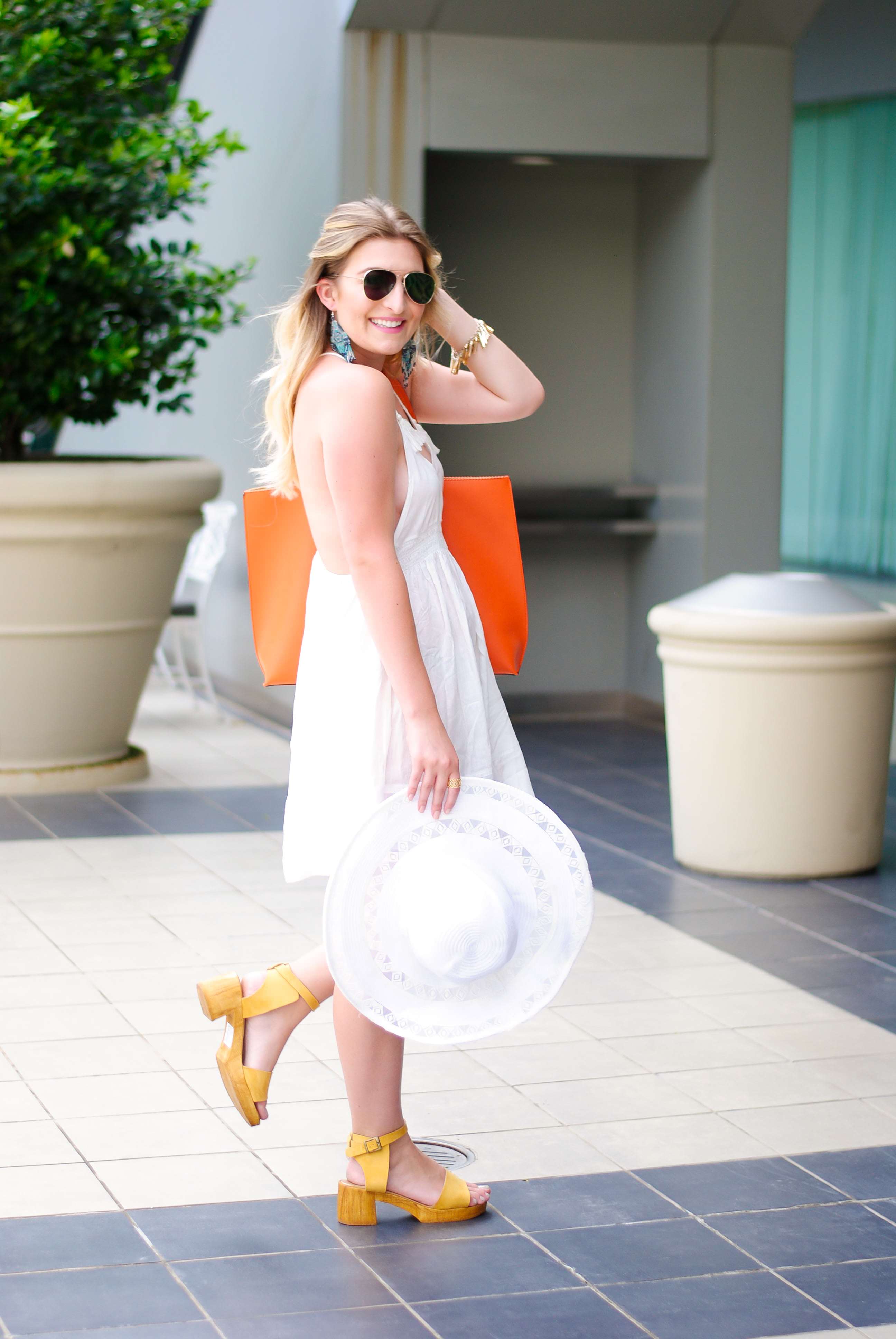 white dress with topshop | Audrey Madison Stowe Blog