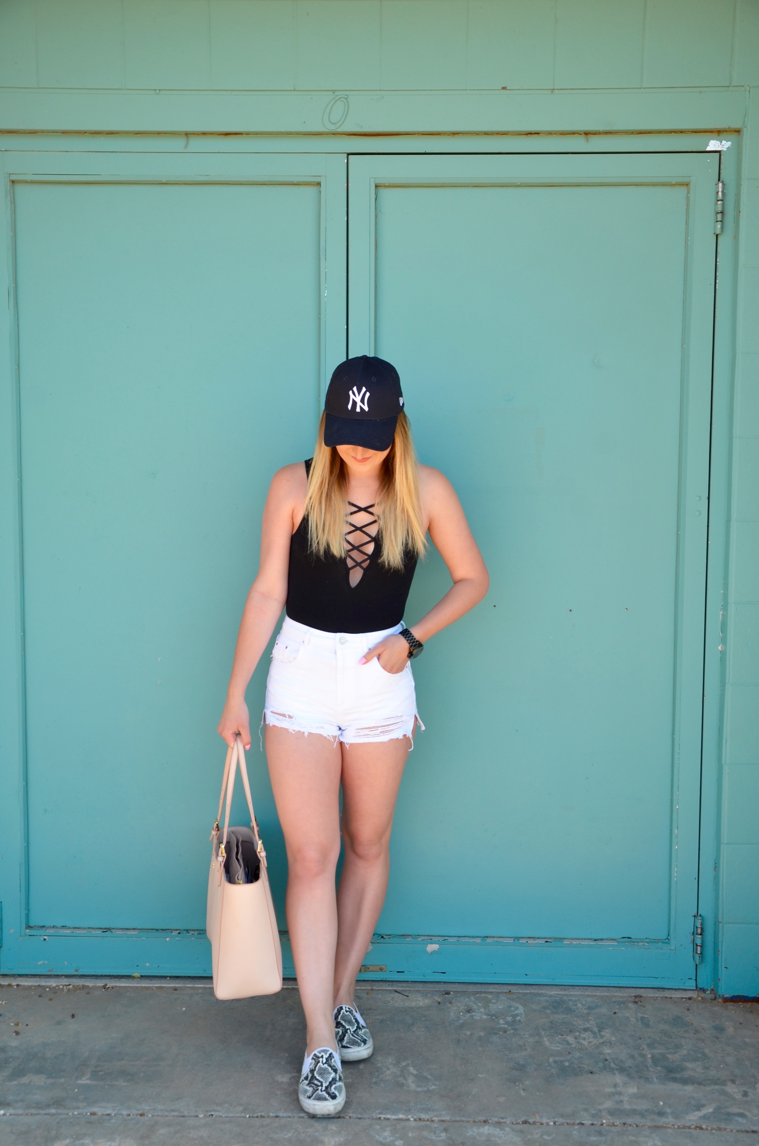 snake skin vans - Travel Outfit Of The Day by popular Texas style blogger Audrey Madison Stowe