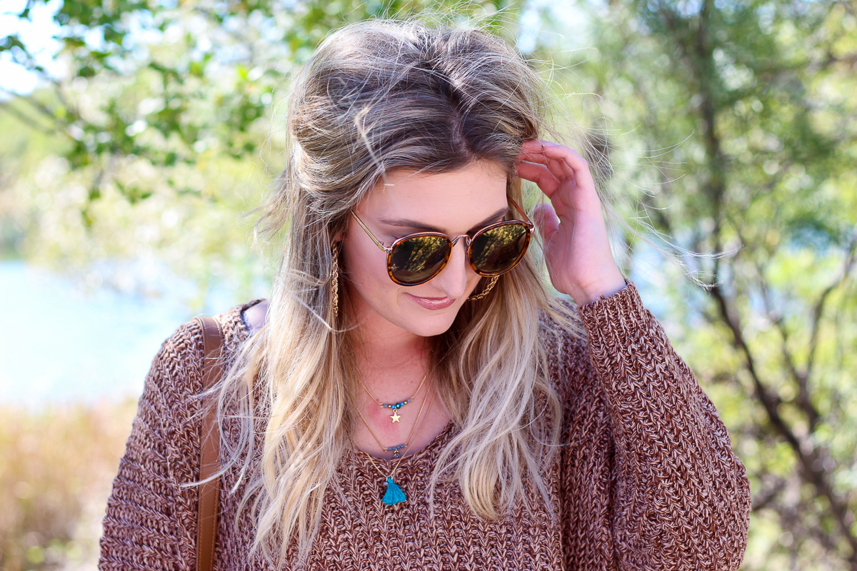 The perfect Fall Brown Chunky Sweater   AMS Blog