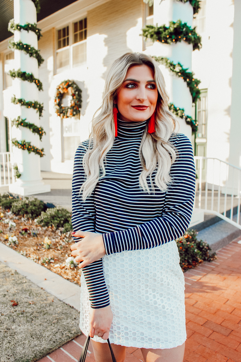 Holiday Inspired looks this season | Simple white skirt | Red Dress boutique | Audrey Madison Stowe a fashion and lifestyle blogger - 5 Holiday Looks To Get Inspired by Texas fashion blogger Audrey Madison Stowe