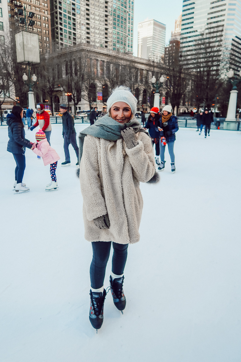 Ice Skating | Cloud Gate | Chicago Travel Diary | Audrey Madison Stowe a fashion and lifestyle blogger - Weekend in Chicago by popular Texas blogger Audrey Madison Stowe