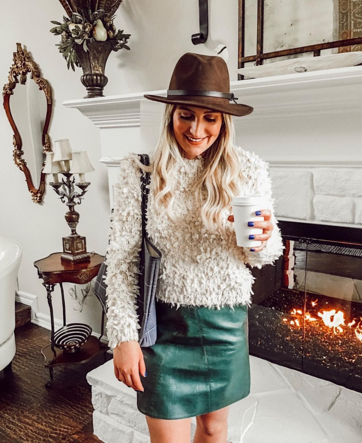 Fuzzy sweater | Audrey Madison Stowe a fashion and lifestyle blogger