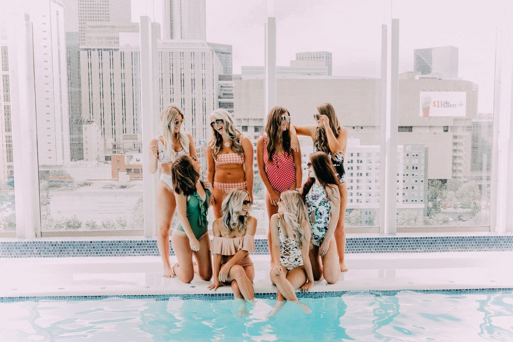 Poolside in ATL | Cute Summer Bikinis featured by popular Texas fashion blogger Audrey Madison Stowe