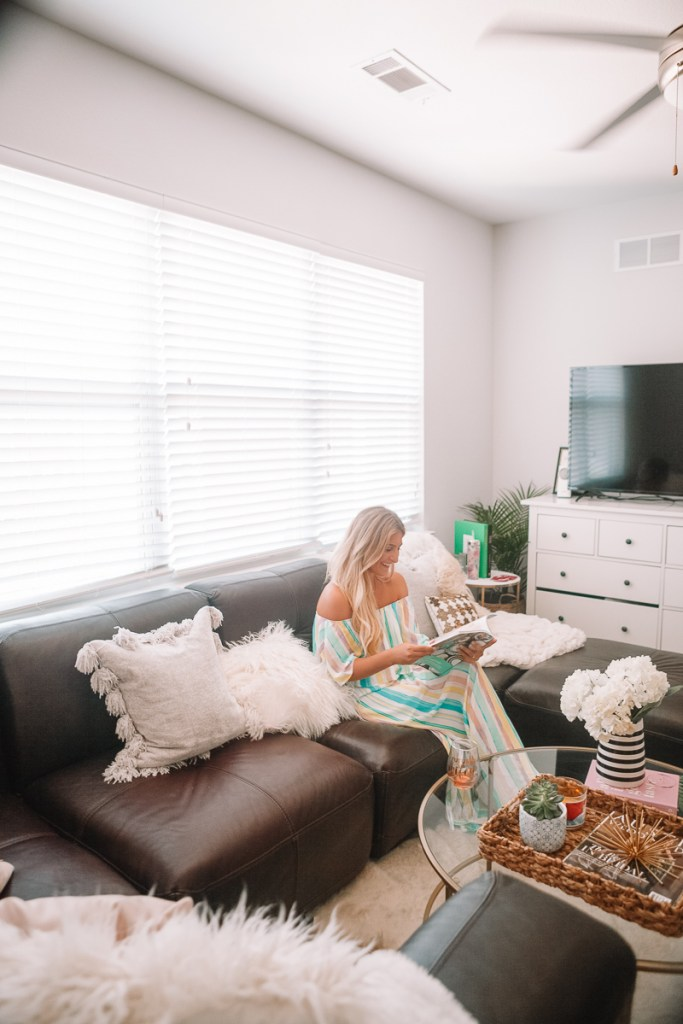 Apartment Living Room Reveal   Welcome To Our Crib   Home Tour featured by popular Texas life and style blogger Audrey Madison Stowe