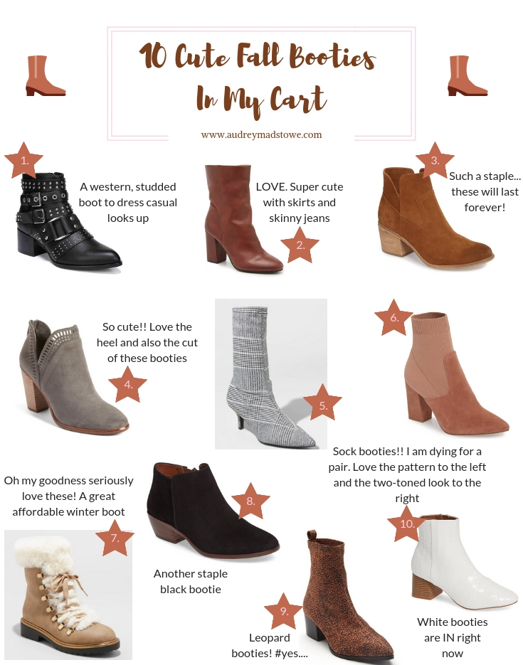 DSW | Nordstrom | Nordstrom Rack | Target | 10 Fall Booties In My Shopping Cart + A Sneaker Bootie You'll Love featured by top Texas fashion blogger Audrey Madison Stowe