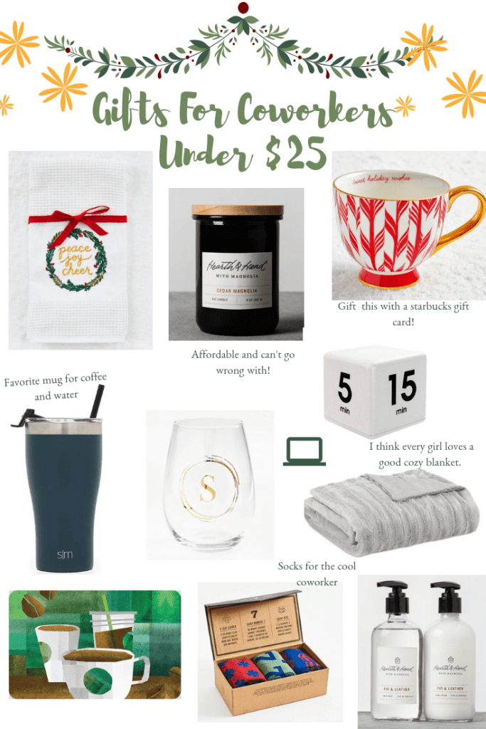 Gift Ideas For Co-Workers Under $25 | Affordable gifts for the office | Audrey Madison Stowe a fashion and lifestyle blogger